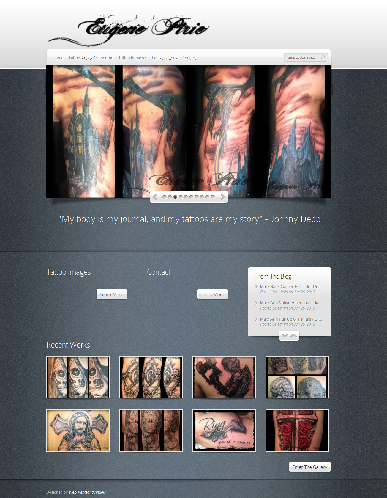 Eugene Pirie – Tattoo Artist Melbourne Website