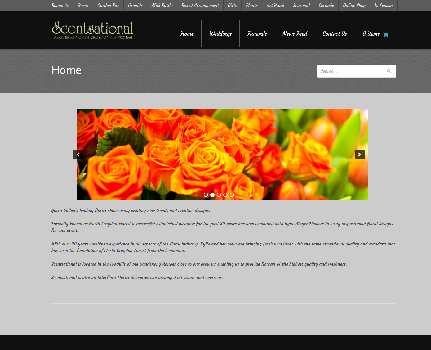 Scentsational Flowers – North Croydon Florist Website Design