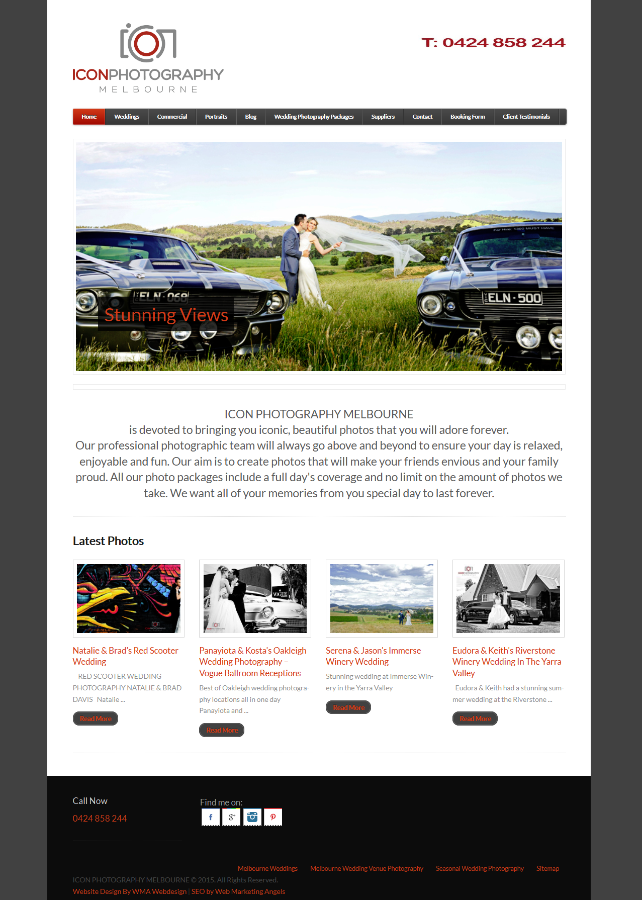 Melbourne Photography Website Design – Icon Photography