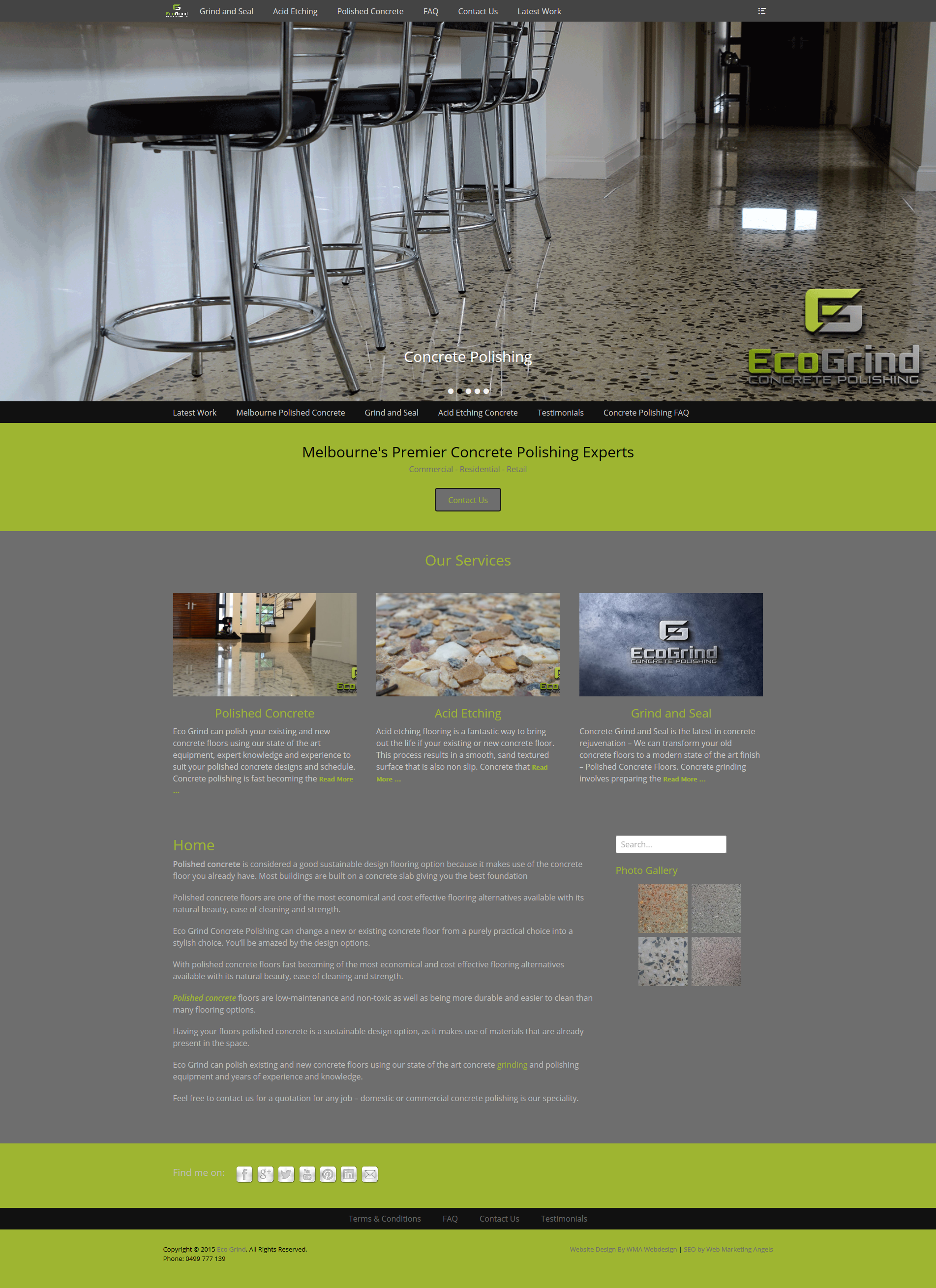 Lyndhurst Web Design – Eco Grind Website