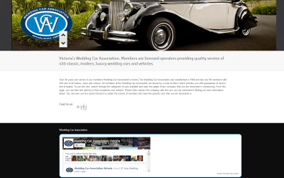 Wedding Car Association – Victorian Wedding Car Hire Website Design