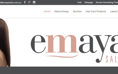 Emaya Salon – Hairdressing and Beauty Website Design Ferntree Gully