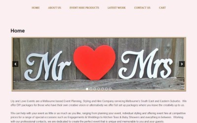 Lily & Love – Event Planning Website Design