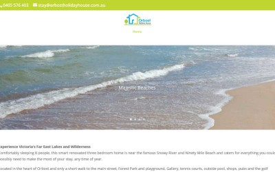 Orbost Holiday House – Gippsland Website Design