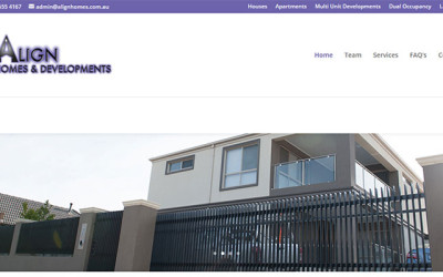 Website Design Align Homes and Developments – Melbourne South East