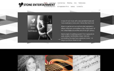 Website Design UK – Stone Entertainment
