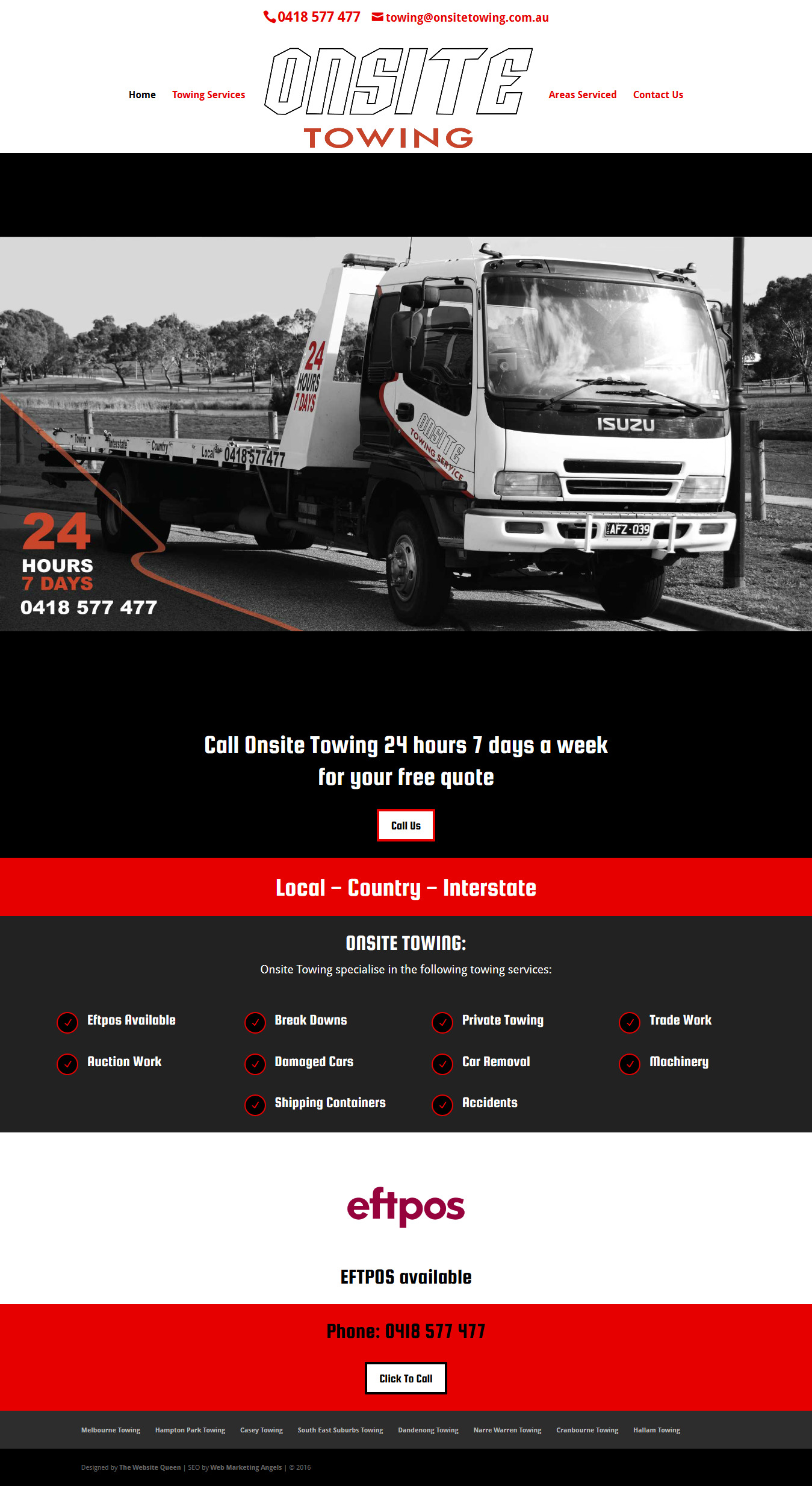 Towing Company Website Design Melbourne