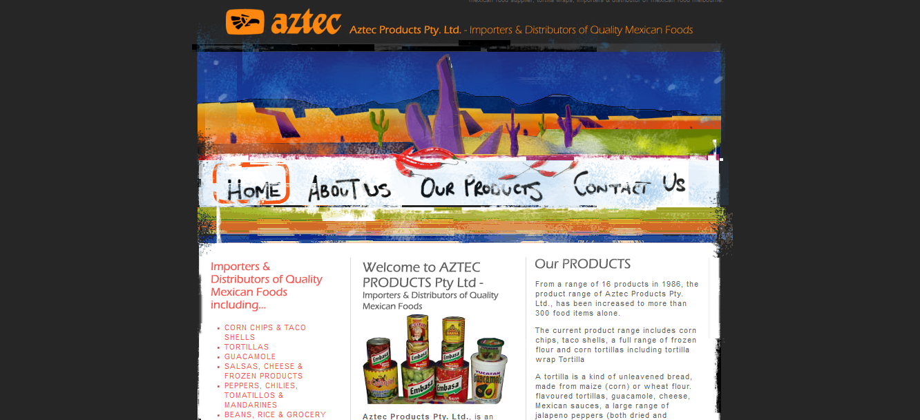 Aztec Mexican Products and Liquor Website - Web Marketing Angels