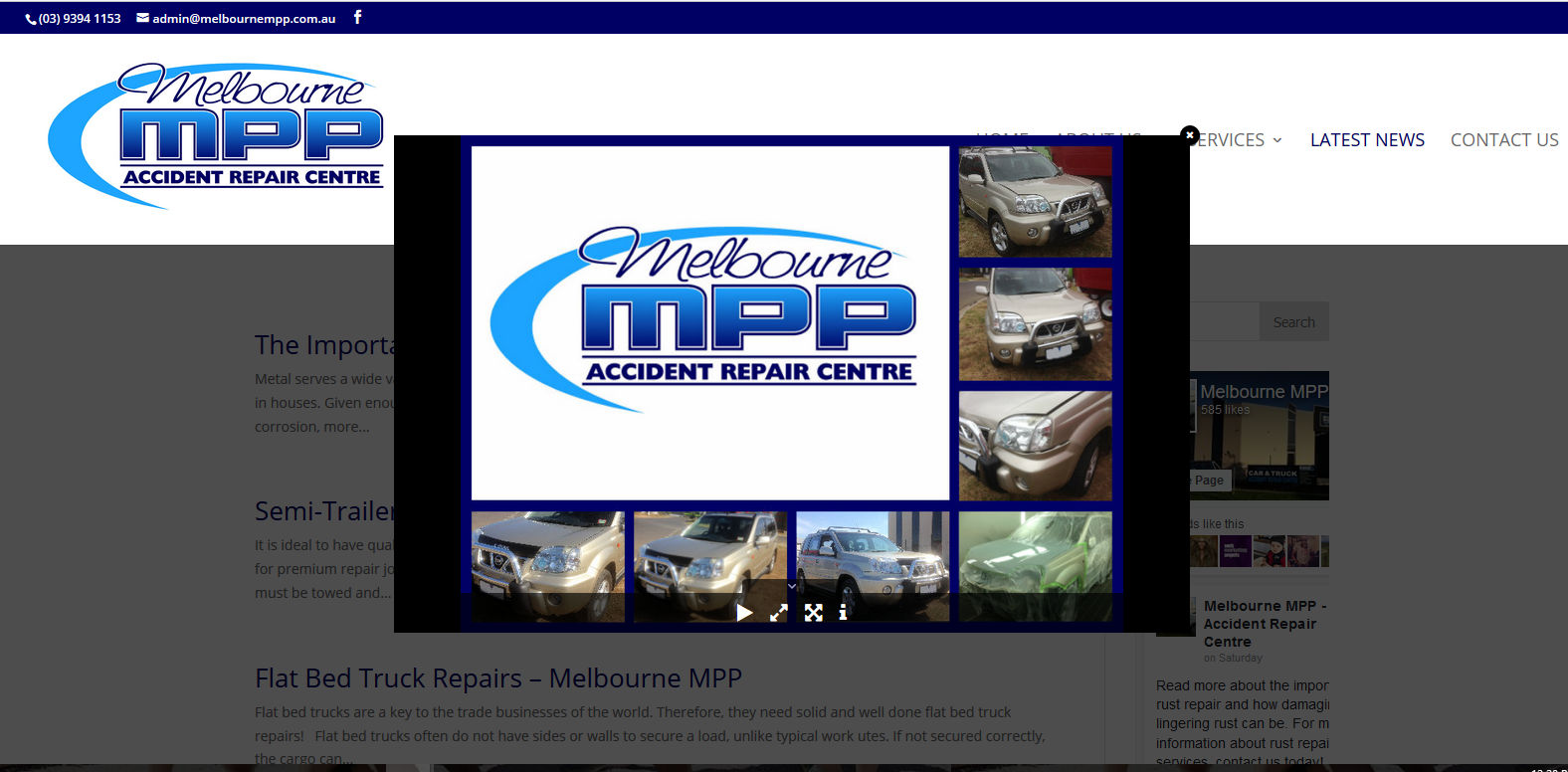 melbounre mpp redesign melbourne smash repairs