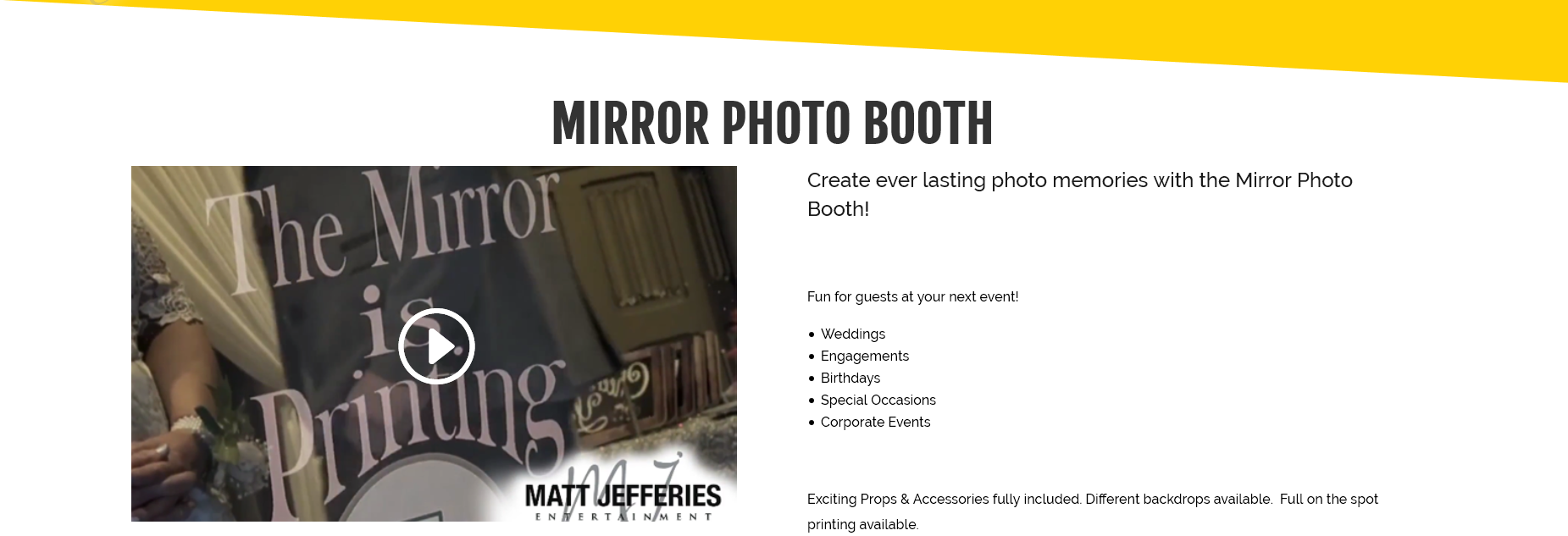 Mirror Booth Hire Melbourne