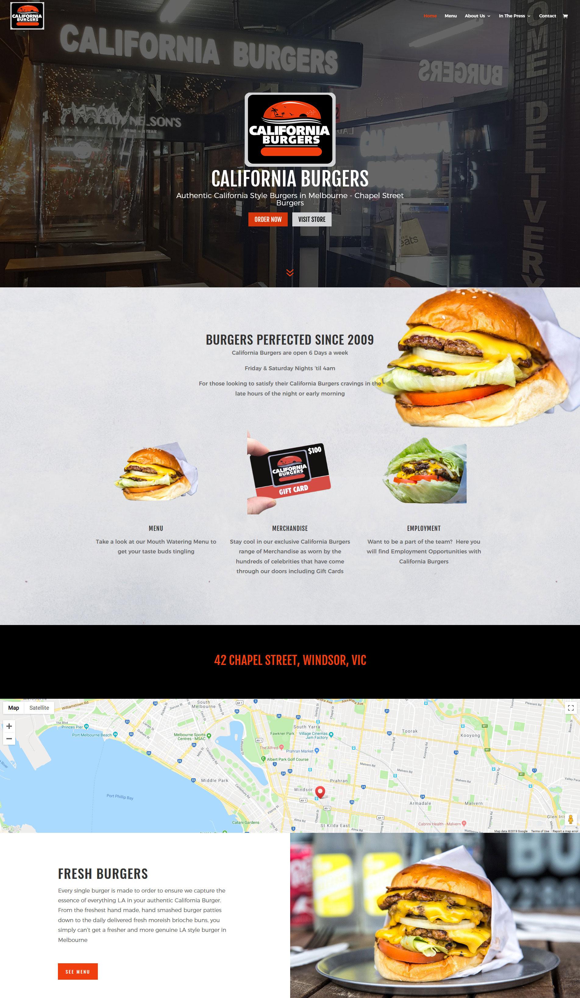 California Burgers Website