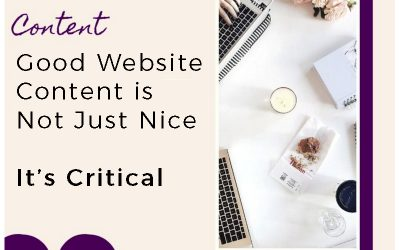 Good Website Content is Not Just Nice – It's Critical