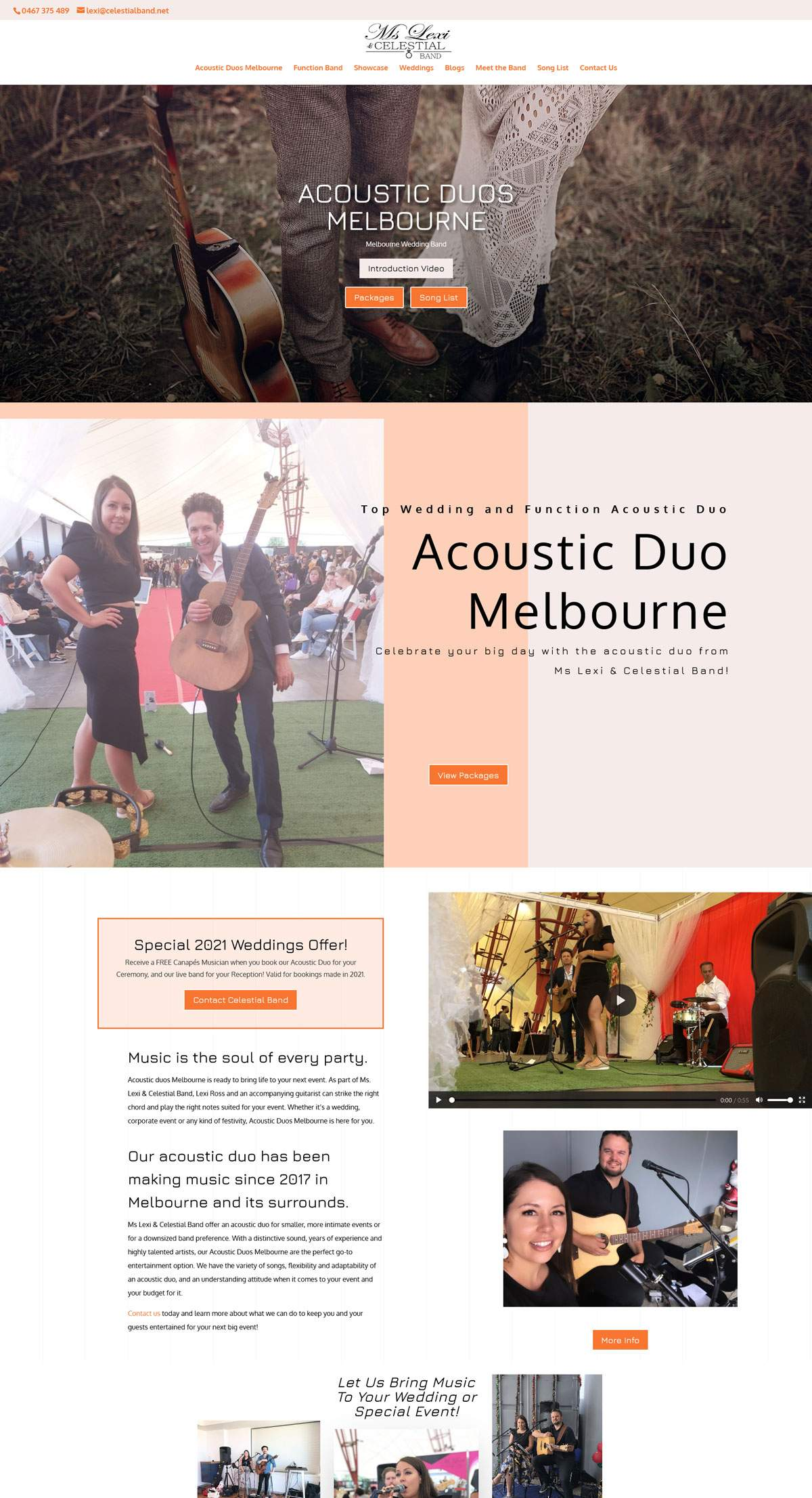 Brochure Websites - Ms Lexi and Celestial Band
